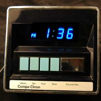 '70s Compu Chron LED Alarm CLock,