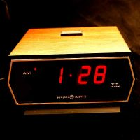 '70s General Electric LED Alarm Clock,