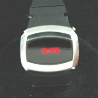 vintage LED watch MINTY QUASAR LED,