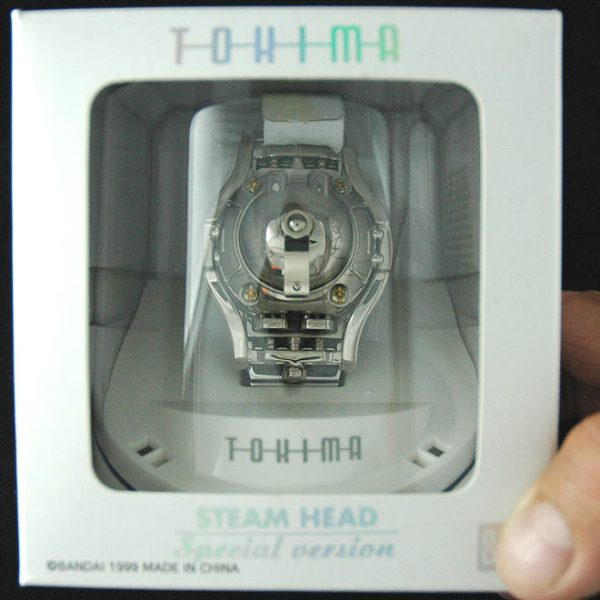 "vintage LED watch NOS TOKIMA Bandai ""STEAMHEAD"" – SPECIAL EDITION Bright Chrome Finish with chrome finish over stainless steel band,"