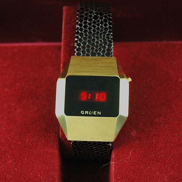 vintage LED watch NOS Gruen,