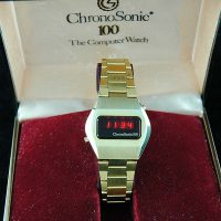 vintage LED watch MINTY CHRONOSONIC 100 LED,