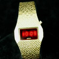 vintage LED watch NOS GOLD PLATED BIRKS LED