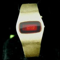 vintage LED watch MINTY MERCURY TIME DOW LED,