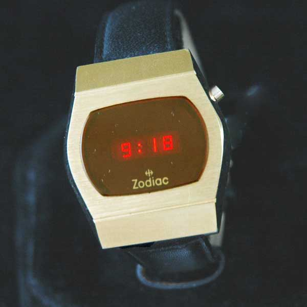 vintage LED watch NOS ZODIAC LED – HUGHES INSIDE!,