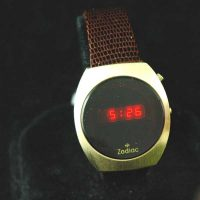 vintage LED watch NOS ZODIAC DOW LED – HUGHES INSIDE!,