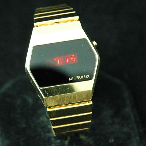 vintage LED watch MINT MICROLUX DOW LED,